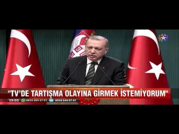 Muharrem İnce'nin Televizyon davetine Erdoğan'dan Tartışma olayına girmek istemiyorum