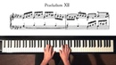 Bach Prelude and Fugue No 12 Well Tempered Clavier Book 1 with Harmonic Pedal