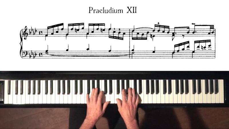 Bach Prelude and Fugue No.12 Well Tempered Clavier, Book 1 with Harmonic Pedal