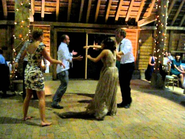 Lively Cumberland Square Dance at a traditional English wedding barn dance