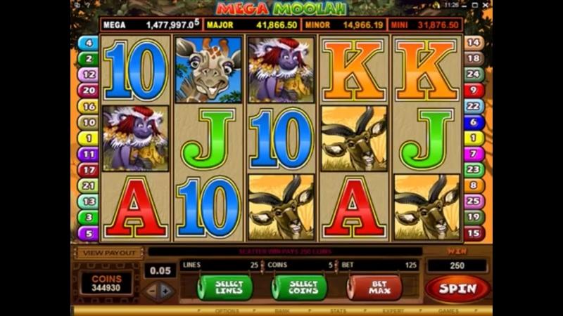 Mega Moolah Slot - Jackpot