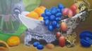 Натюрморт с лилиями - многослойная живопись (часть 5)