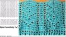 Узор листики крючком вяжу платье полосами ажурных узоров