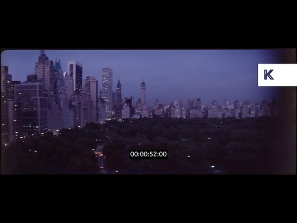 Central Park at Dusk, New York, 1970s, 1980s, HD from 35mm