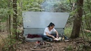 BUSHCRAFT小姐姐丛林独自野营, 黑暗料理烤香蕉是啥味道?