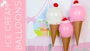 How To Make DIY Ice Cream Cone Balloons for Birthday Parties Summer Fun Lindsay Ann Bakes