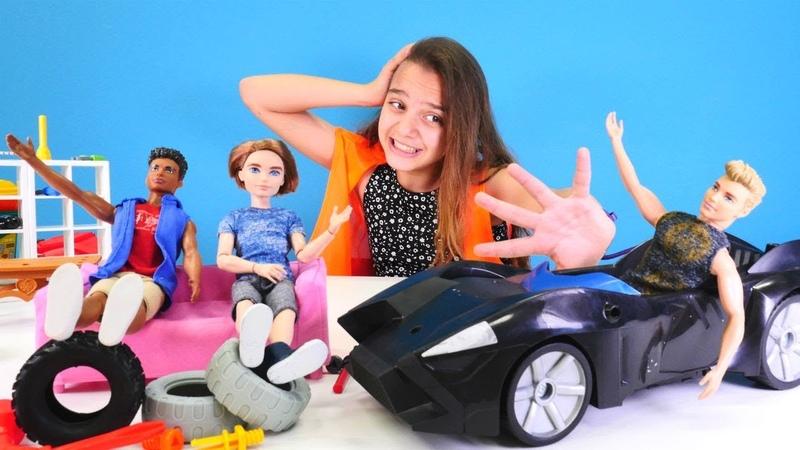 Ken'in arabası zıplıyor! Lara arabayı bozuyor!