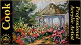 How to Paint a Gazebo and Rose Garden with Ginger Cook
