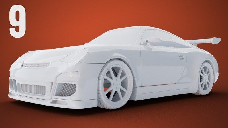 CGC Classic: Modeling a Porsche Pt. 9 - Headlights and Door Handles (Blender 2.6)