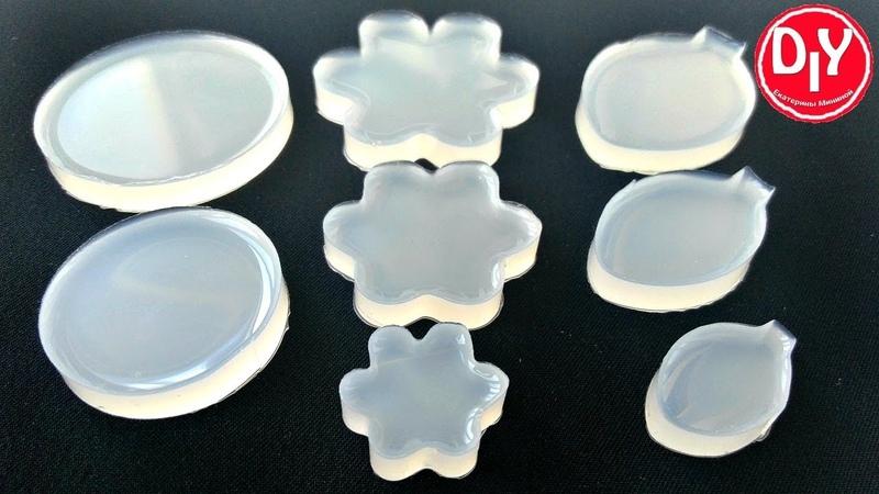Силиконовые формы для плоских заливок из эпоксидной смолы.