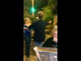 Я и учитель танцев из Еревана в маленьком ресторанчике,