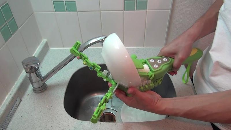掴んで回す手持ち食洗機「くるさらウォッシュ」 使い方 −サンコ 12540