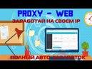 ProxyWeb Заработай на своем IP.
