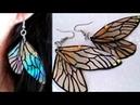DIY Fairy Wings Earrings Recycle DVDs