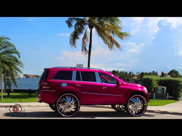 Kandy Magenta Mercedes GL 450 on 34 Forgiato
