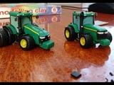 Урок как слепить из пластилина трактор Jhon Deere 8400 Tutorial how to sculpt tractor