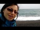 Черное море. Пляж под Ливадийским парком. Крым.