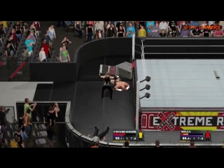 WWE RAW 170717 Stephanie McMahon VS Triple H  Intergender Match  PS4 Gameplay