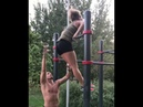 Mara Buran - power output on the bar. Russian mixed wrestler