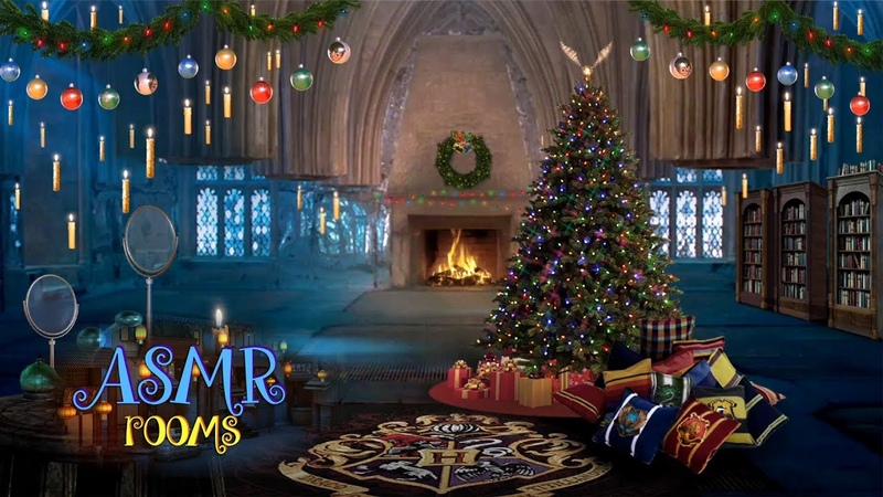 Christmas at Hogwarts ✼ Harry Potter ✧ Room of Requirement! (D.A.) ♬ Holiday Music w Fireplace