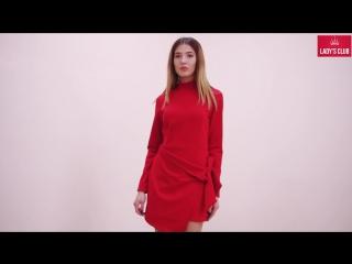 Платье с конструкторскими вставками
