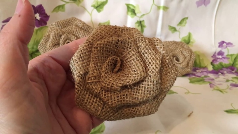 How to make a burlap rose. Create your own wedding flowers. Burlap flower great for bouquets. Burlap