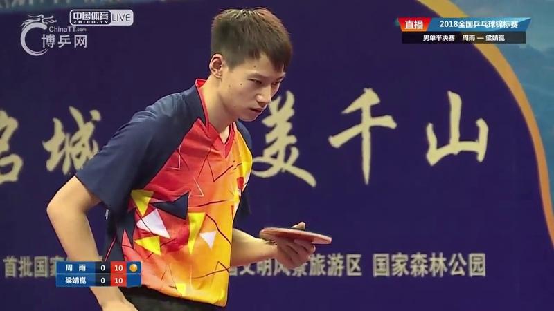 Liang Jingkun vs Zhou Yu | China National Championships 2018