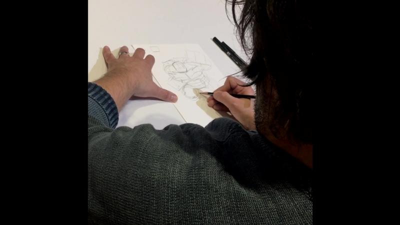 Как рисовали Рафа (приз за викторину на сайте turtles.nickelodeon.ru)
