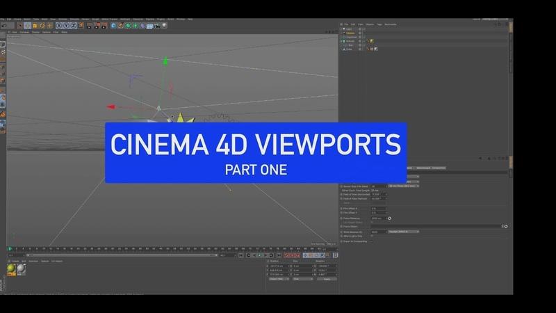 CINEMA 4D Back to Basics Viewports Part 1