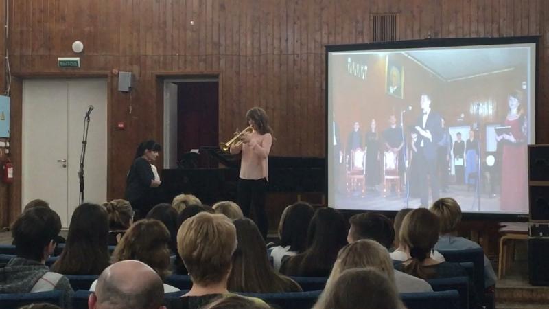 Г.Ф.Телеман ,3 часть , Концерт Фа мажор ,для трубы и ф-но .