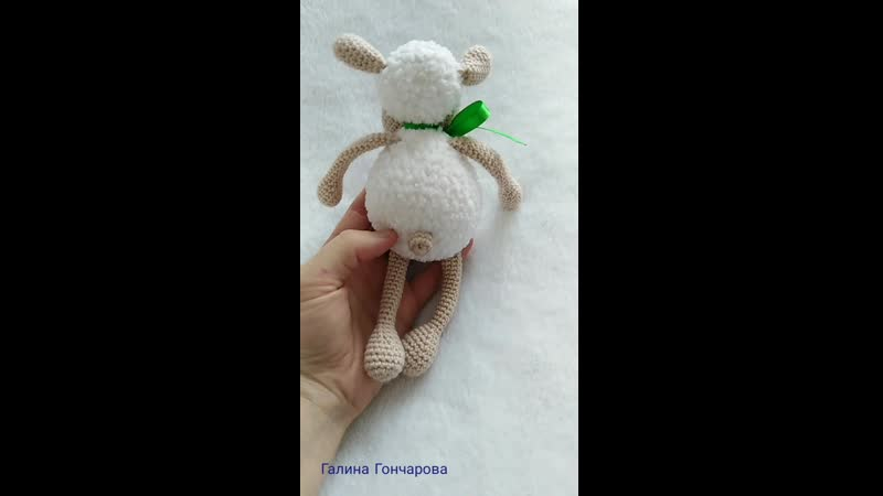 Зефирная овечка по МК Марии Костюченко-Кошмал из Ализе Софти 🐑💓