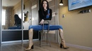 Pointed toe high heels Gianmarco Lorenzi western boots Size EU 37 US 7 Pony fur boots