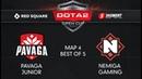 Pavaga Junior vs Nemiga Gaming Map 4 Red Square 5 элемент Dota 2 Open Cup