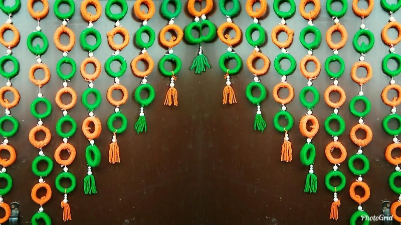 Best Out Of Waste||Woolen Door Hangings Using News Paper||Home Decor Ideas..!