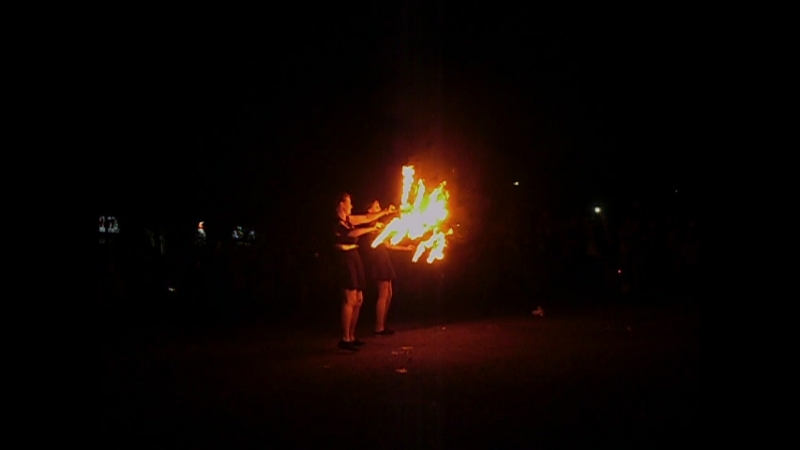 огненое шоу в Катунино.видио огонь