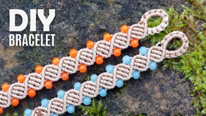 Double Helix DNA Bracelet Tutorial by Macrame School