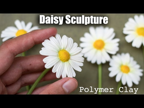 Polymer Clay Daisy Flower Tutorial How to Sculpt with Clay