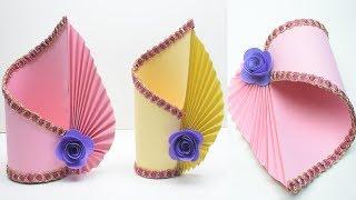 Making Paper Flower Vase_How to Make A Flower Vase At Home_Simple Paper Craft_DIY Paper Vase
