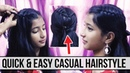 EASY AND QUICK HAIRSTYLES Quick Easy Casual Hairstyle For School College Work Ladies One
