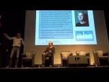 Viggo Bondi gives a Bridges track preview at the a-ha Fan Convention