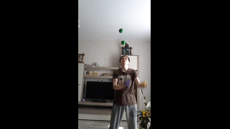 Мультиплекс 5 -ю мячами. 668 бросков