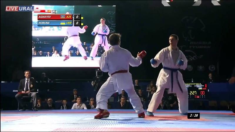 Рафаель Агаев (AZE) Станистав Горуна (UKR) Золотая медаль Karate1 Премьер-лиги, Тюмень 2013