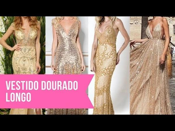 Vestido dourado longo: 14 vestidos perfeitos para formandas, madrinhas e debutantes!
