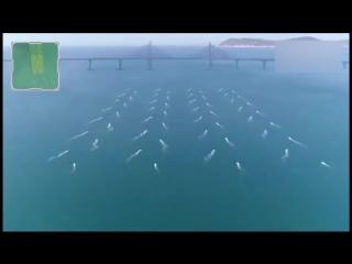 多维新闻】中国56艘无人艇编队现身南海,队形变幻莫测闪现航母造型