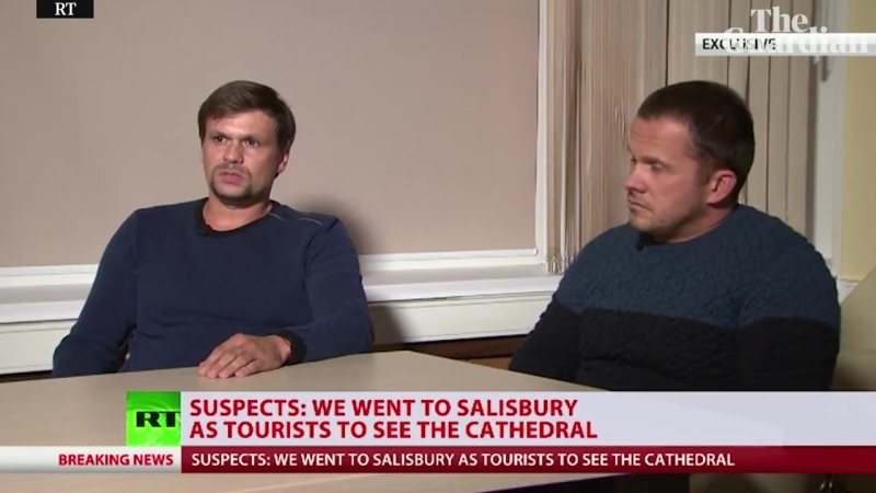Salisbury novichok suspects say they were only visiting cathedral