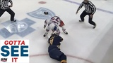 GOTTA SEE IT Rangers Tony DeAngelo Drops Sabres Kyle Okposo With Just One Punch