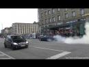 سائق سياره دودج كرايسلير 300C معدله يقوم بالتفحيط في شوارع ميونخ والشرطه تقبض عليه !! 720 X 1280 .mp4