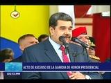 Maduro en acto de ascenso de la Guardia de Honor Presidencial, 30 noviembre 2018