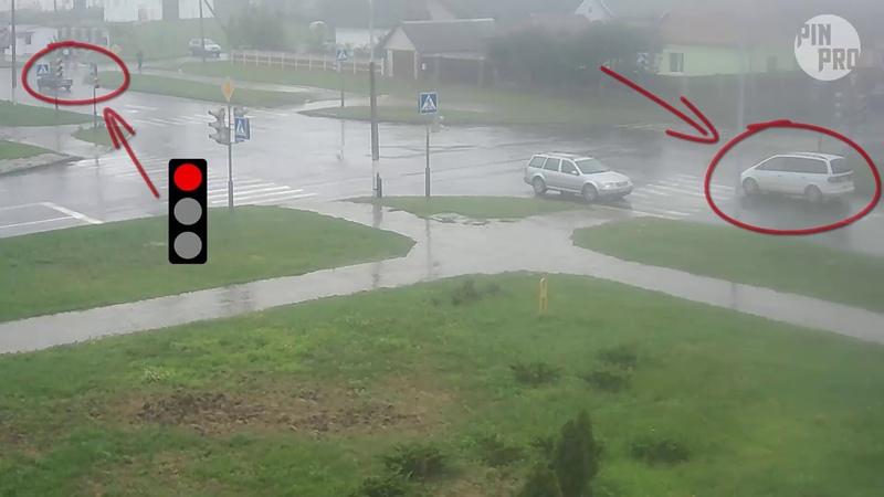Солнечная - Парковая. ДТП. г. Пинск. 25.07.2018