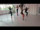 exotic pole dance student class Atmos Vera